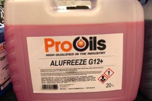 Pro Oils producten motorolie Gemert Hasselt alufreeze G12+