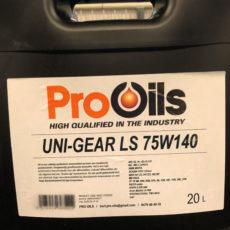 Pro Oils producten Gemert Hasselt versnellingsbakolie differentieelolie Uni-Gear LS 75W140